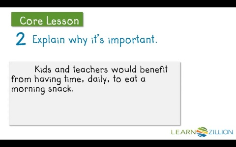 Learnzillion writing a paragraph