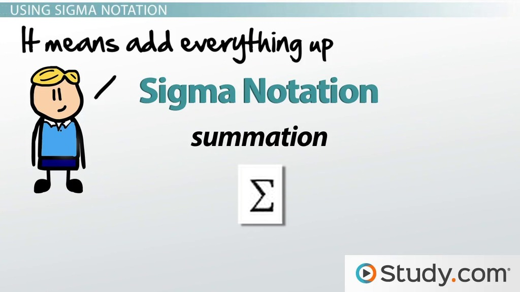 Using Sigma Notation for the Sum of a Series Video Lesson – Sigma Notation Worksheet