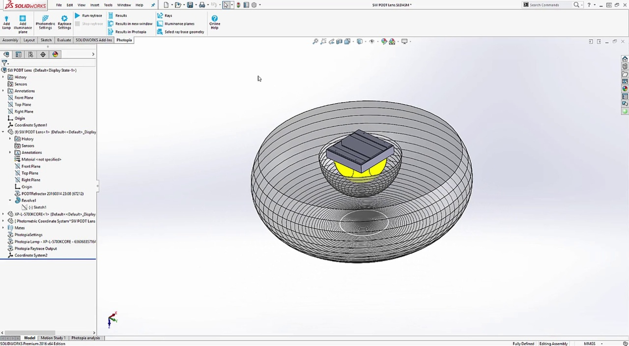 Photopia for SOLIDWORKS - Lens Design Tutorial