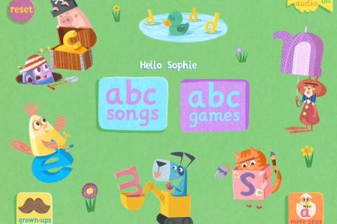 Abc flashcard songs - learn the alphabet.
