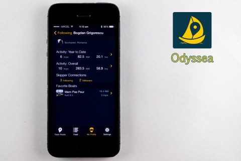 Odyssea. Record your trips.