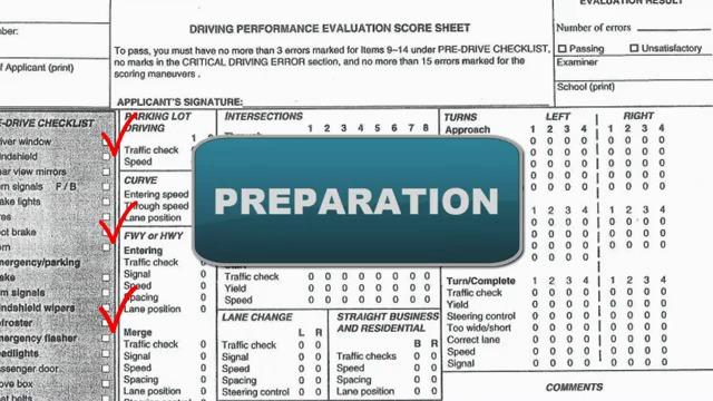 kentucky road test score sheet