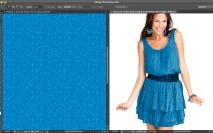 Simulação no Photoshop - Aplicando o padrão no vestido