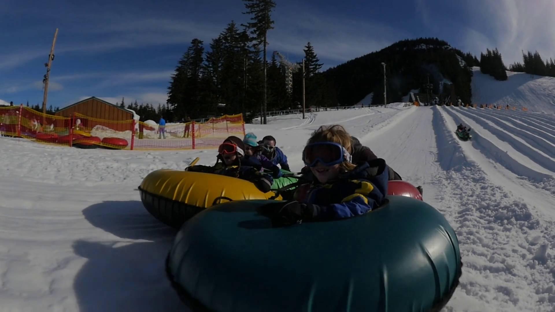 mt hood snowtubing mt hood tubing - Christmas Mountain Tubing
