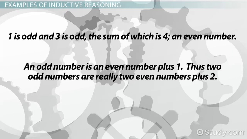 Reasoning in Mathematics Inductive and Deductive Reasoning – Inductive Reasoning Worksheet