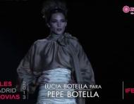 Lucía Botella 2013 para Pepe Botella. Desfile de Cibeles Madrid Novias