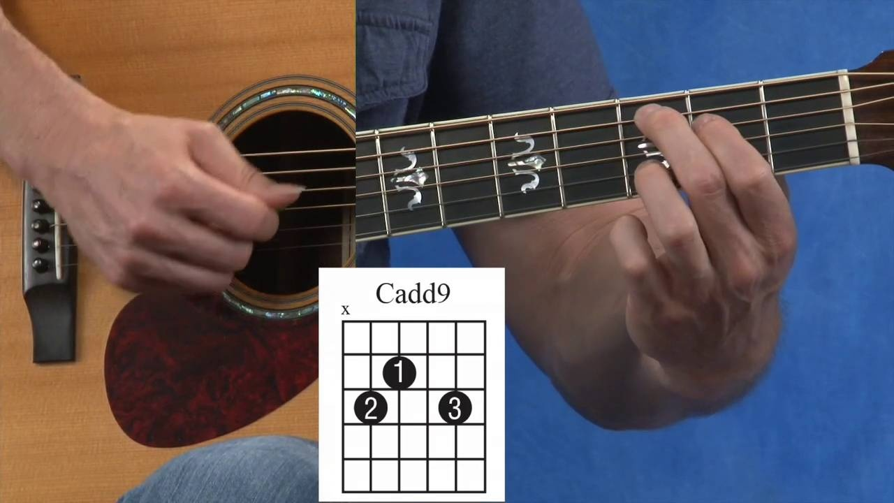 How To Play A Cadd9 G And D Guitar Chord Video Lesson