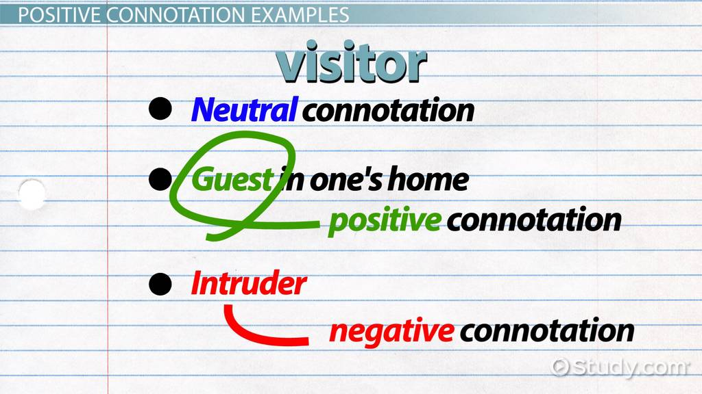 What is Positive Connotation Definition Examples Video – Connotation and Denotation Worksheets for Middle School