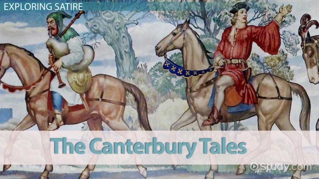 satire in the canterbury tales video lesson transcript com