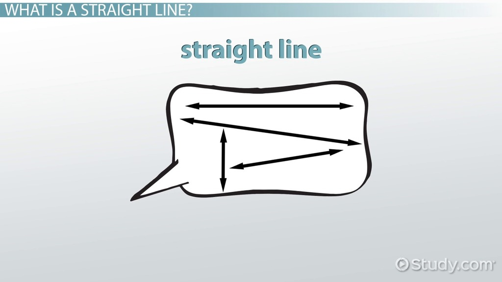 What is a Straight Line? - Definition & Examples - Video & Lesson ...