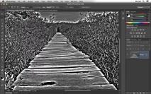 Efeito de foto PB com o ajuste HDR Toning