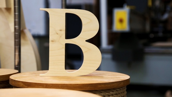 baltic birch wood letters