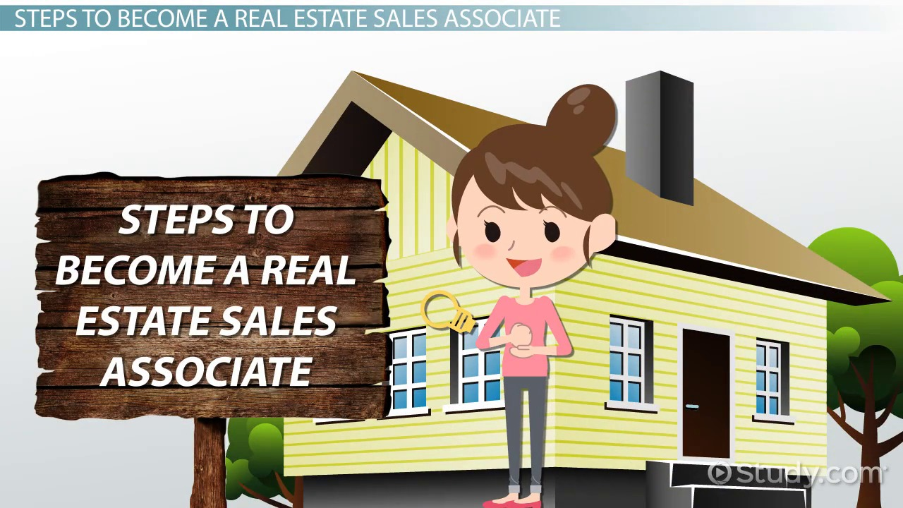 how to become a real estate s associate