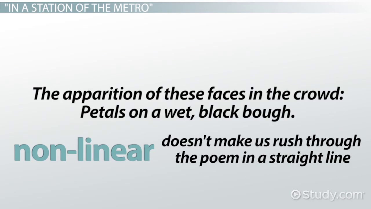 In a Station of the Metro by Ezra Pound: Poem Analysis & Overview ...