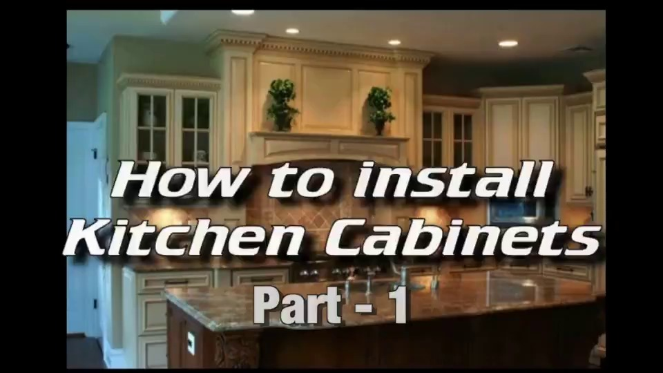 how to install kitchen cabinets installing cabinets cabinet rh ez level com how to install frameless kitchen cabinets video DIY Kitchen Cabinets