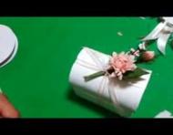 Tutorial per confezionare bomboniera a bauletto