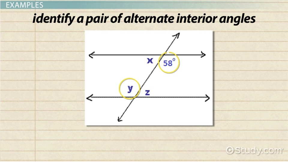 Alternate Interior Angles Definition Theorem Examples Video – Angle Pairs Worksheet