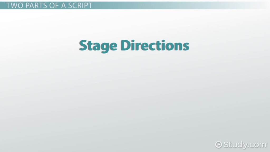 Identifying Stage Directions in a Drama Video Lesson – Script Analysis Worksheet