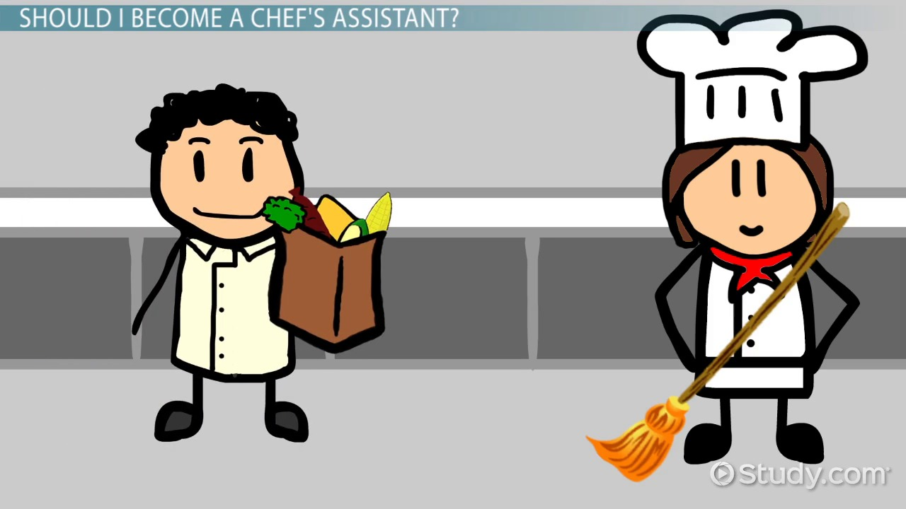 how to become a chef u0027s assistant