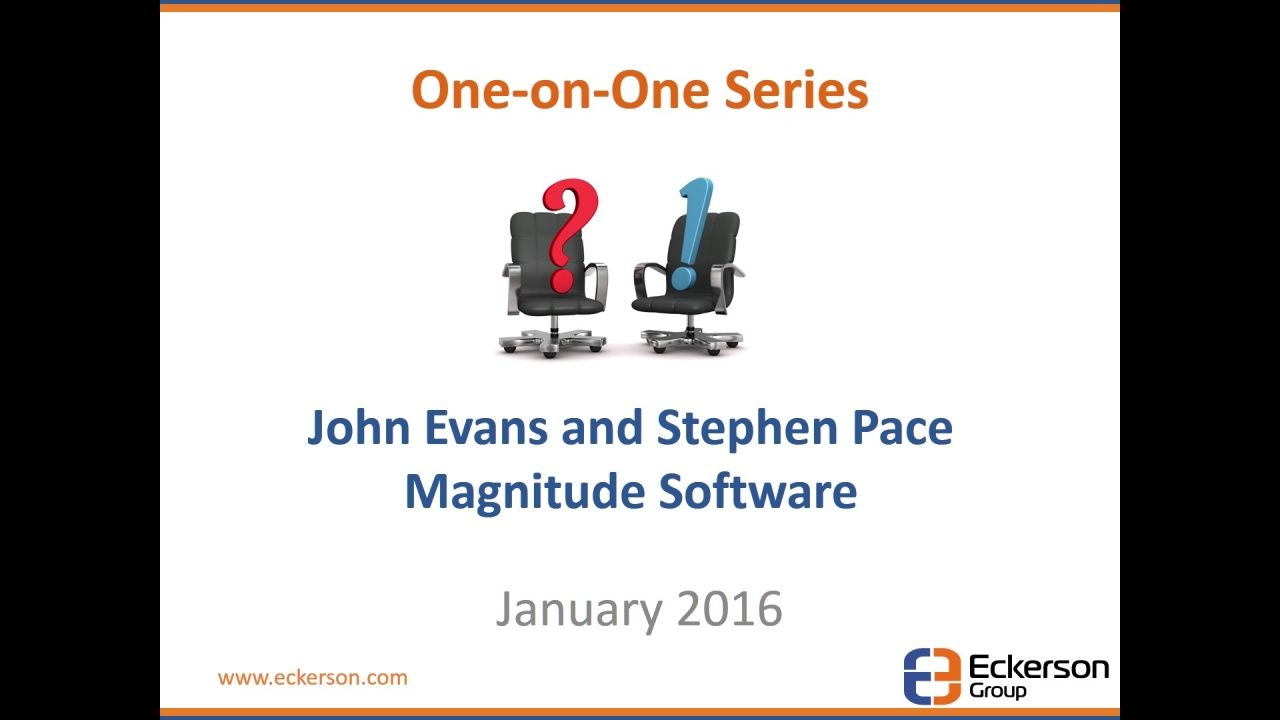 Magnitude Software - One-on-One Interview with Eckerson Group