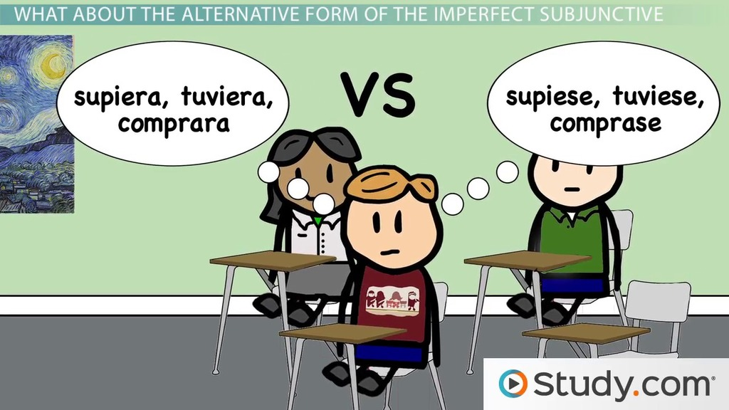Conjugations and Alternate Conjugations of the Imperfect – Spanish Subjunctive Worksheet