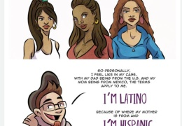"""I'm Latino. I'm Hispanic. And they're different, so I drew a comic to explain."" thumbnail"