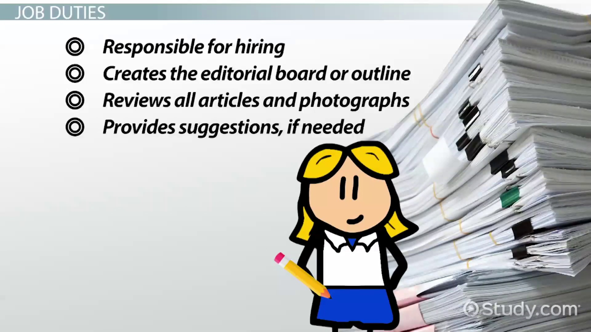 Job Description of an EditorinChief – Executive Editor Job Description