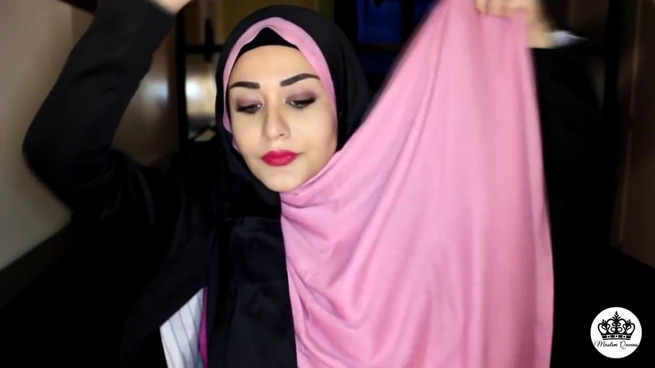 two-colors-hijab-tutorial---hijab-avec-deux-couleurs