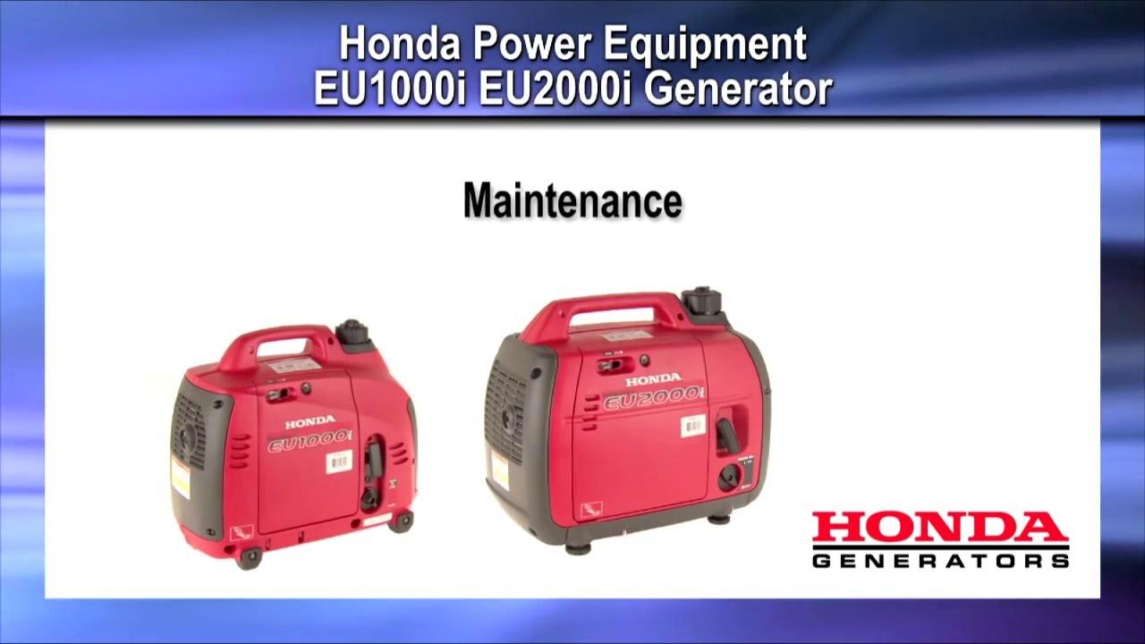 Wistia video thumbnail - EU1- EU2000i Maintenance - Honda Generators