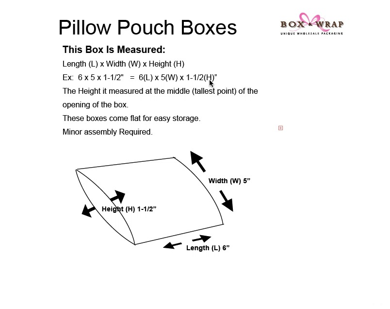 Measuring Guide - Pillow Boxes   Box and Wrap