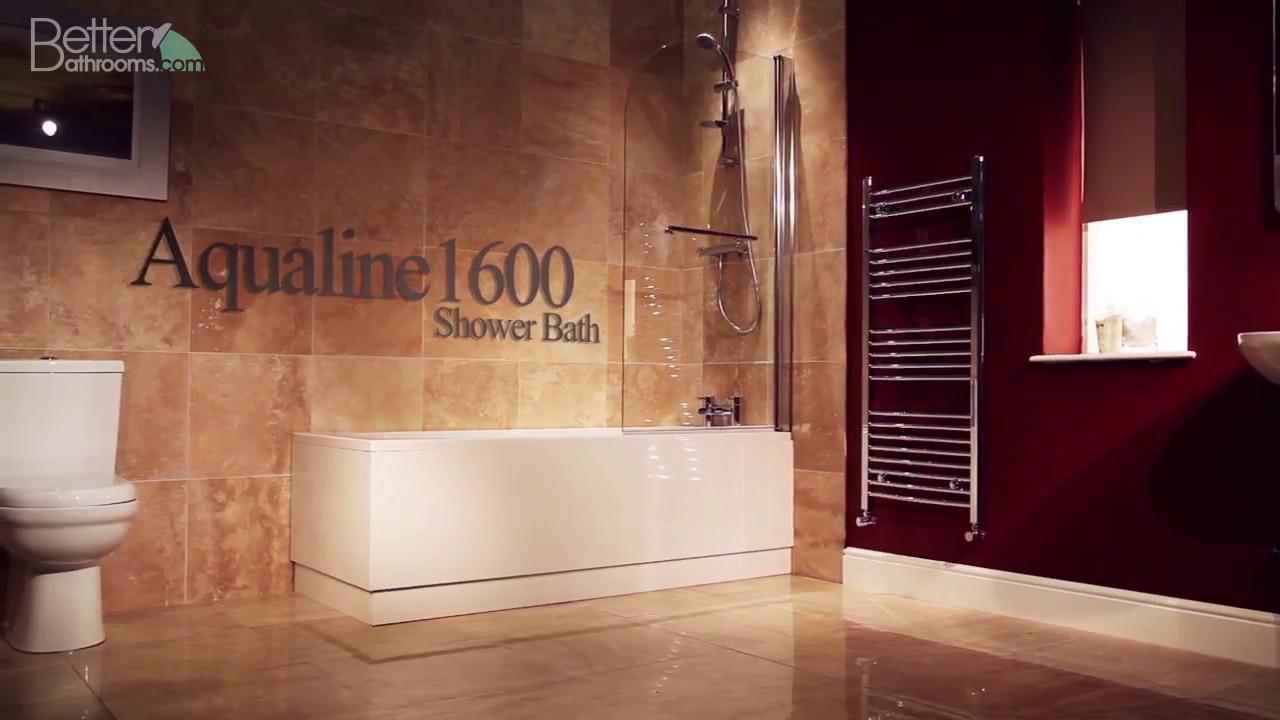 aqualine 1600 x 700 straight shower bath with front panel 6mm aqualine 1600 x 700 straight shower bath with front panel 6mm hinged screen