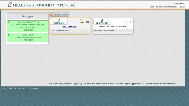 Wistia video thumbnail - Logging into the HEALTHeCOMMUNITY Portal