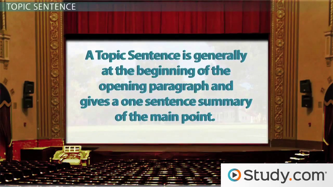 writing main idea thesis statement u0026 topic sentences video