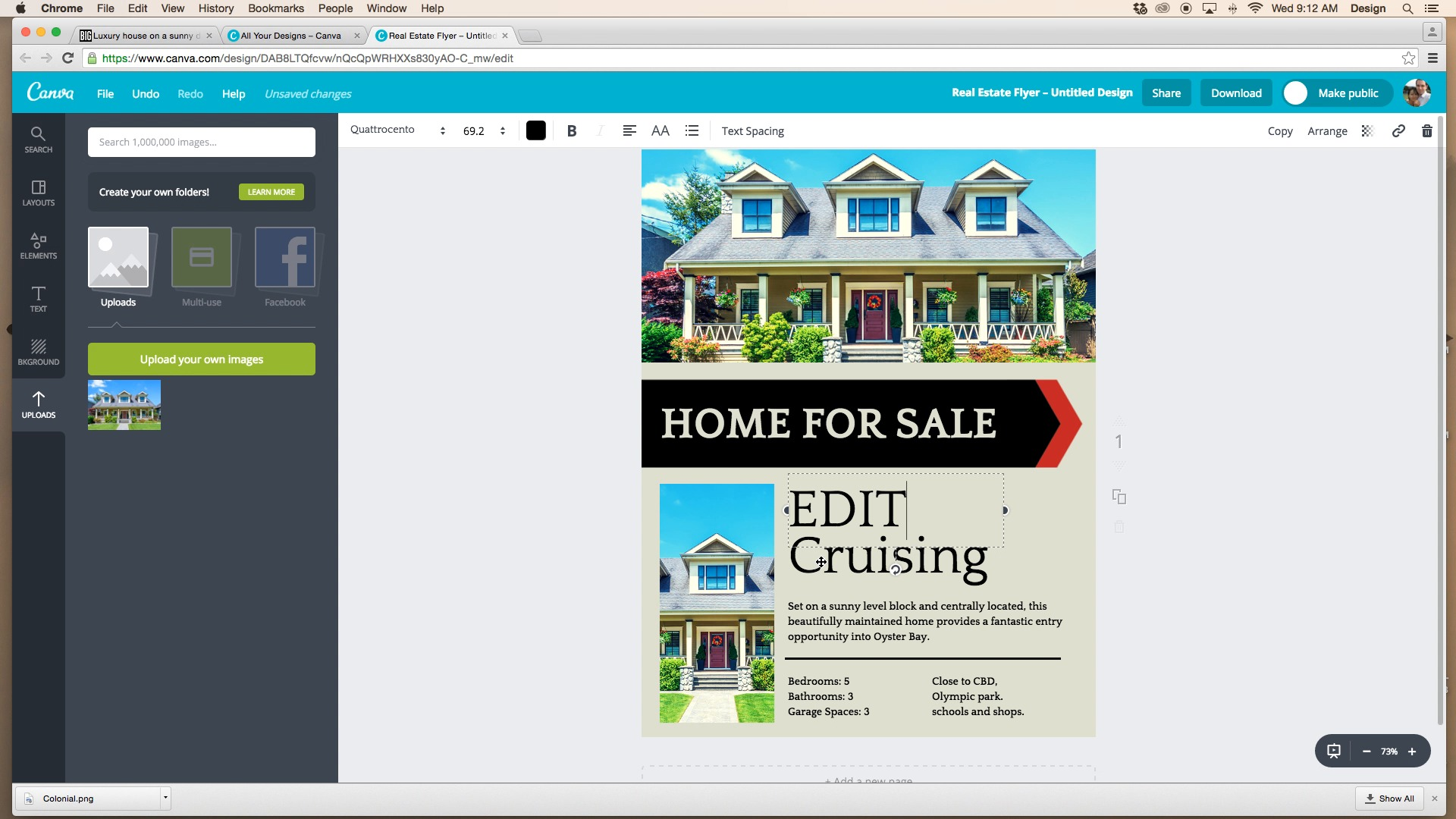 how to create real estate flyers canva boomtown