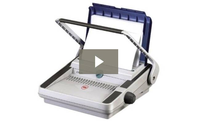 how to use a comb binding machine video