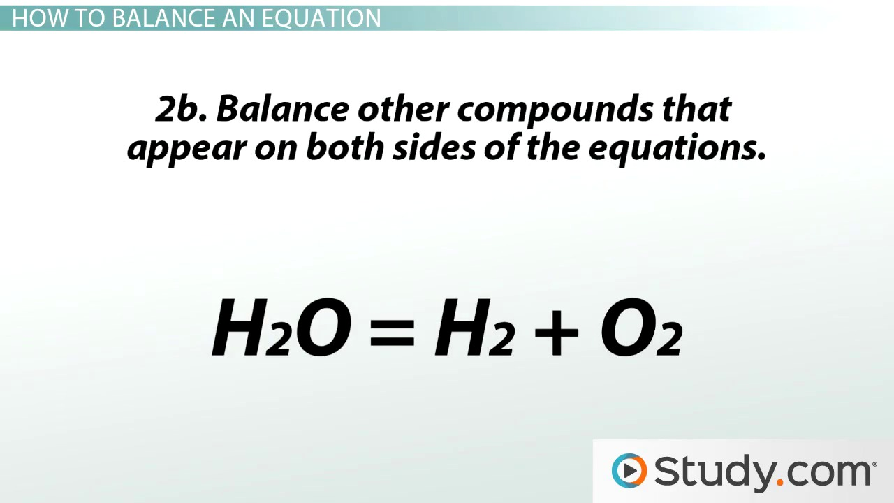 Chemical Reactions and Balancing Chemical Equations Video – How to Balance Chemical Equations Worksheet