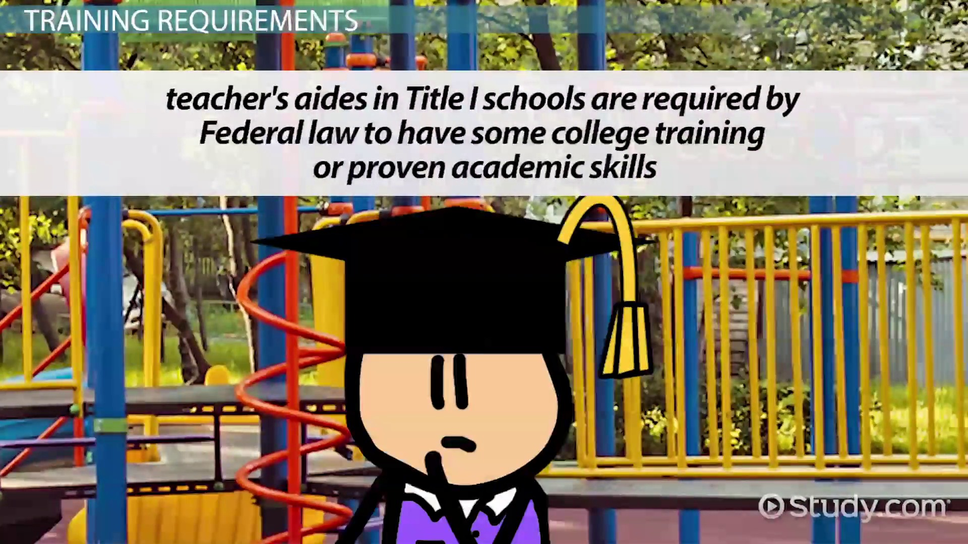 training requirements to be a teacher s aide