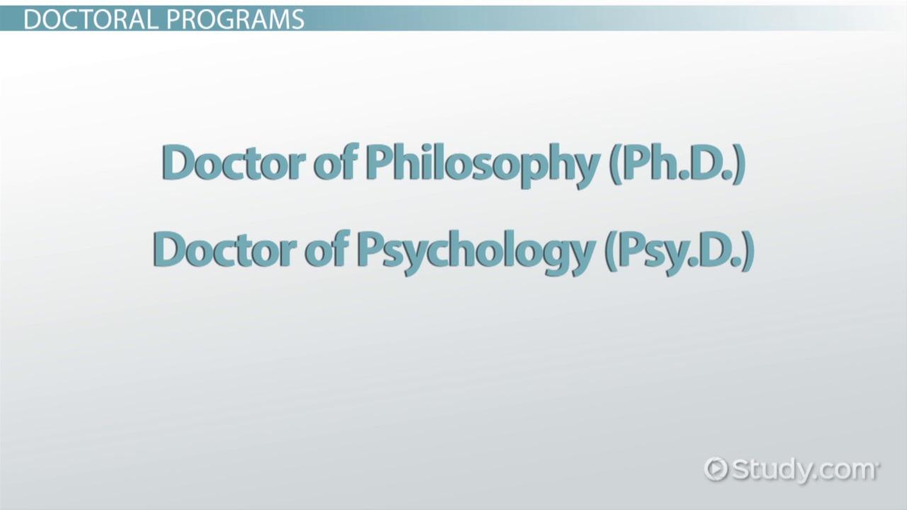 psychologist educational requirements