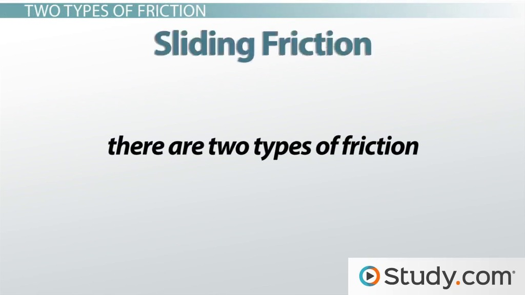Friction Definition and Types Video Lesson Transcript – Types of Friction Worksheet